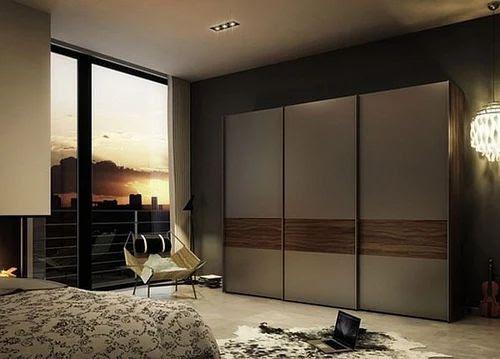 glass wardrobe door designs for bedroom indian  | 520 x 592