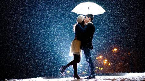 love couple kissing  snow romantic couple wallpapers wallpaperscom