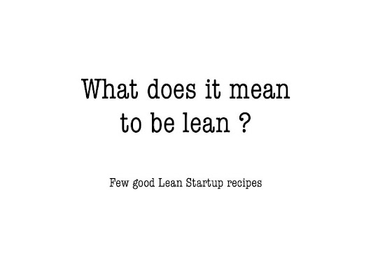 What does it mean to be lean