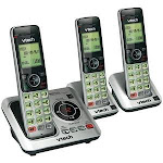 VTech DECT 6 0 Expandable Speakerphone with Caller ID 3-Handset System VTCS6629-3
