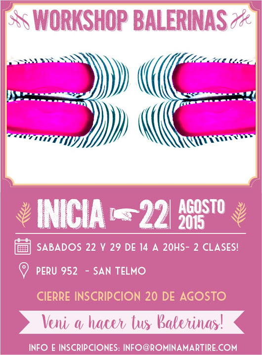 👌👟 WORKSHOP BALERINAS AGOSTO!!  👟👌