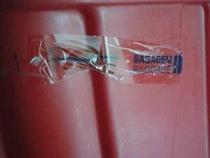 Caixa transportadora ficou quebrada após a queda  (Foto: Rodrigo Farah/ Arquivo Pessoal)