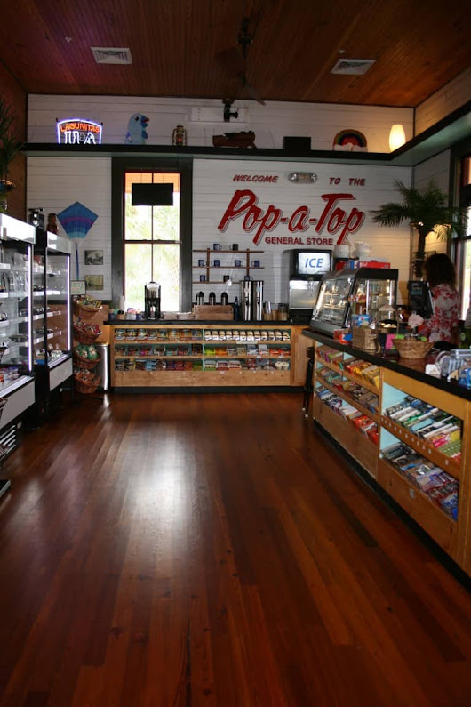 Pop-A-Top General Store at Depot Park, Legacy Heart Pine Floors
