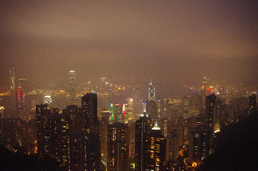 Hong Kong City Lights Captured