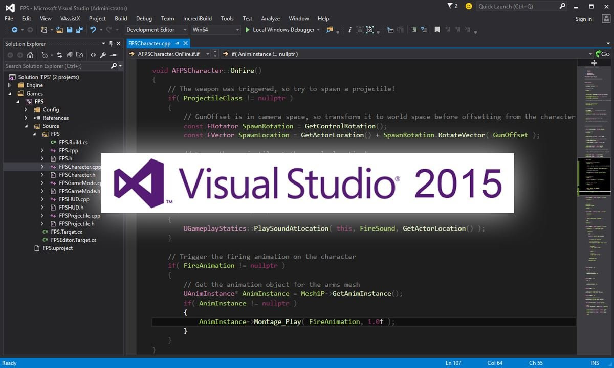 Unreal Engine adds Visual Studio 2015 support