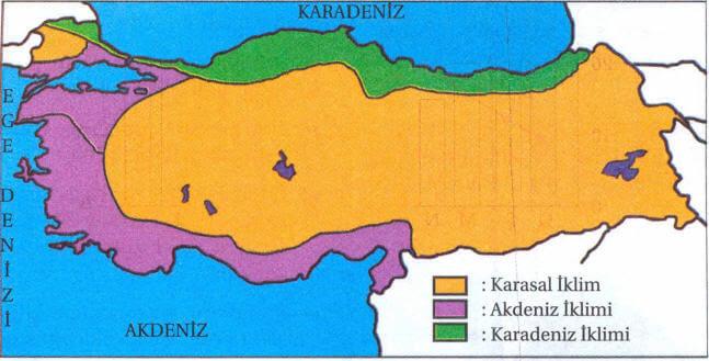 Türkiyede Görülen Iklimler Ve özellikleri