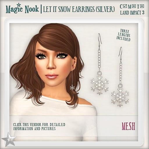 [MAGIC NOOK] Let It Snow Earrings (Silver) MESH