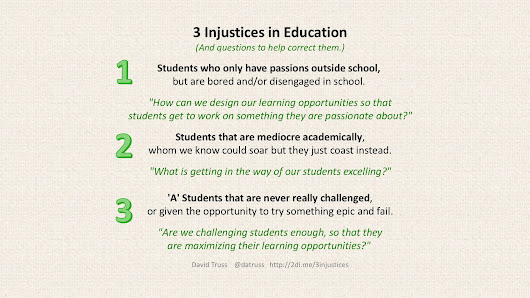 3 Injustices in Education – David Truss :: Pair-a-dimes for Your Thoughts