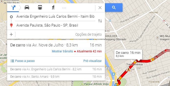 Busque uma rota (Foto: Reprodução/Paulo Alves)