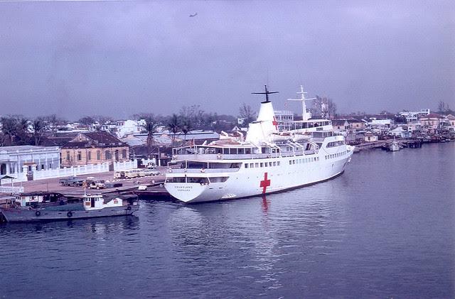 Hospital Ship Repose in Da Nang 1967