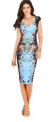 Zip v collar bodycon dress floral dresses evening canada for travel
