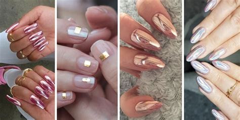 chrome nails  mirror nail polish  acrylic nail