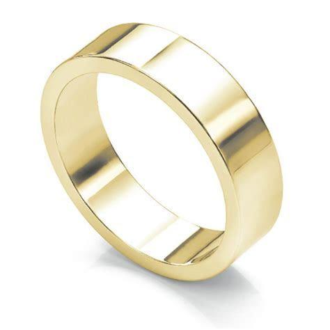 Flat Wedding Ring Medium Weight