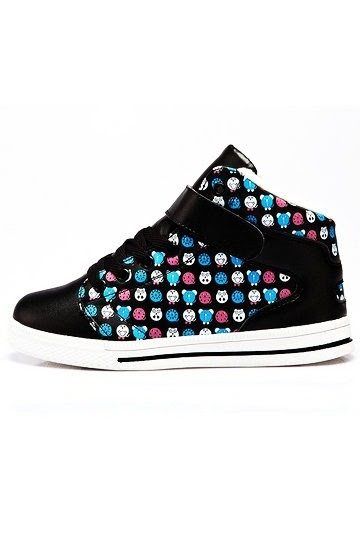 Cartoon Pattern Details Ultra Fine Leather Warm Sneakers
