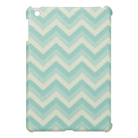 Aqua Blue Chevron Case For The iPad Mini