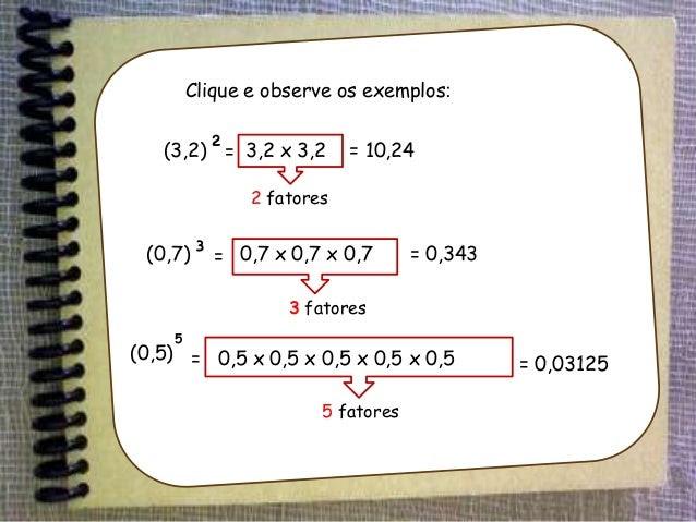 Resultado de imagem para potenciação de numeros decimais