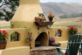Stucco Fireplaces Outdoors - Landscaping Network