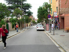 Street to Parc Güell
