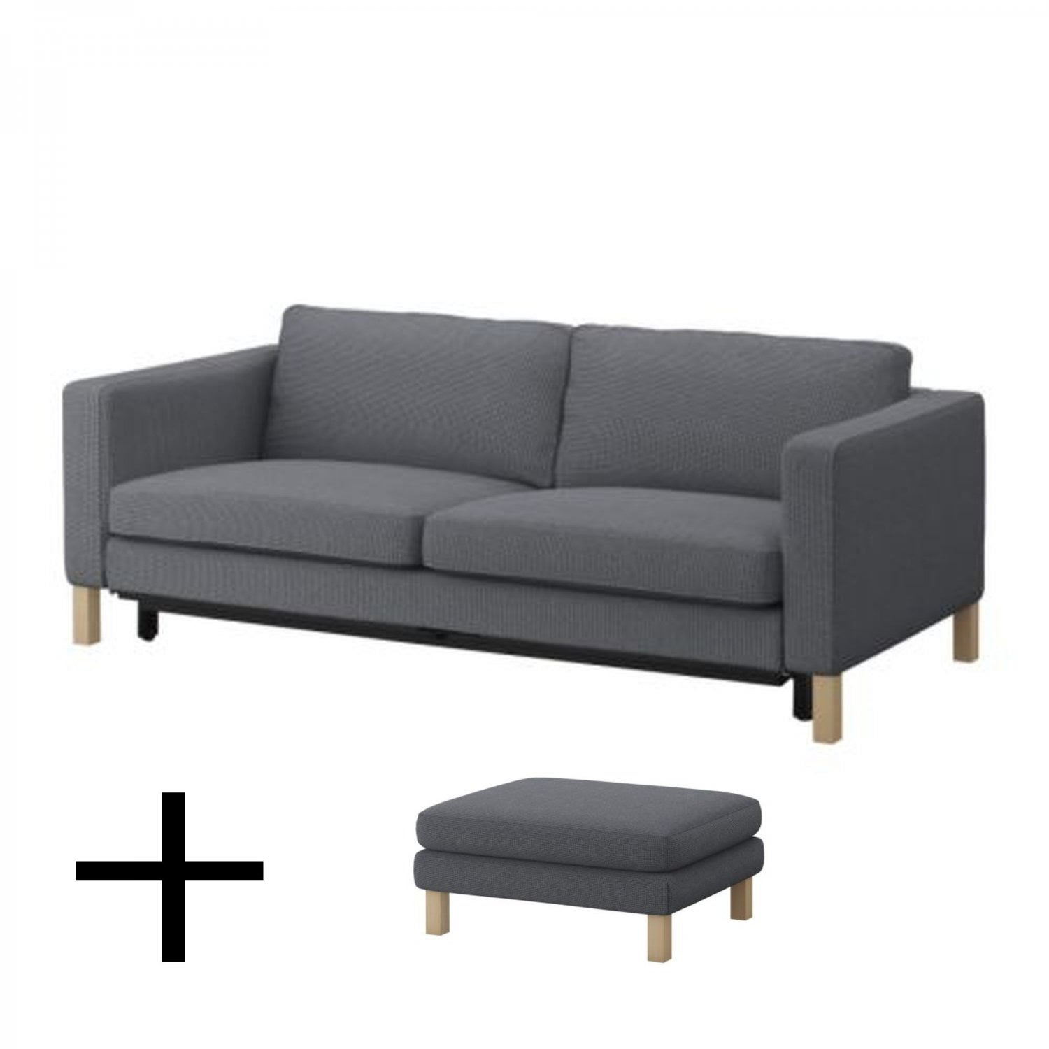 Groovy Ikea Karlstad Sofa Bed And Footstool Slipcovers Sofabed Short Links Chair Design For Home Short Linksinfo