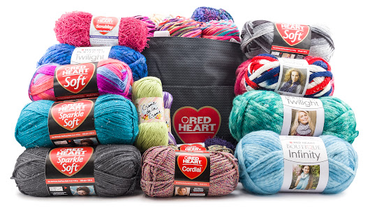 Assorted Red Heart Yarn Bundle