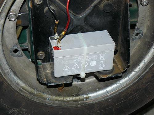 UPS battery on Vespa PX