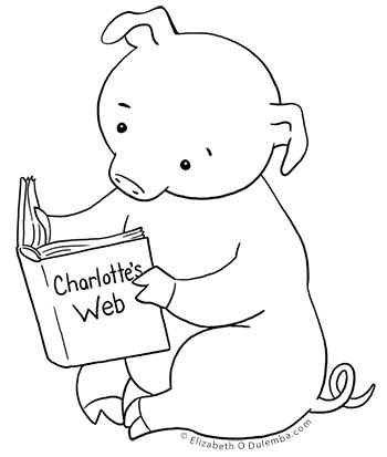 dulemba Coloring Page Tuesday Piggie and Charlotte