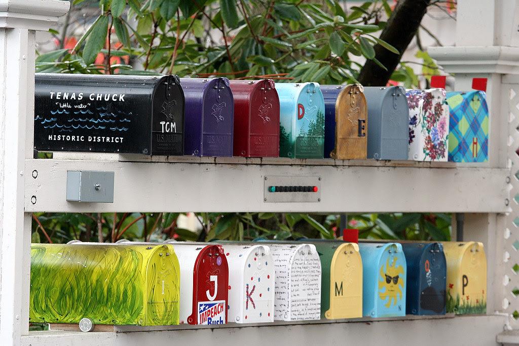 Tenas Chuck Moorage Historic Distric Mailboxes