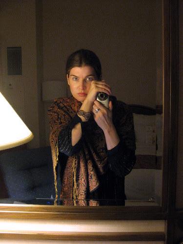 Me in my hotel room - Brooklyn Bridge Marriott