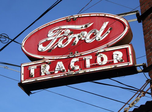 ford tractor neon sign