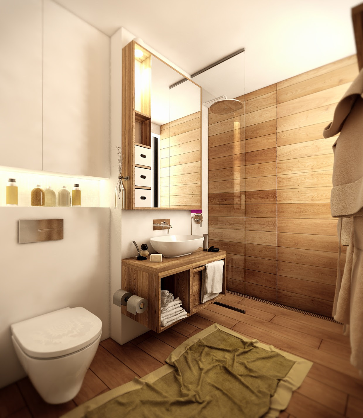wood-floor-bathroom | Interior Design Ideas.