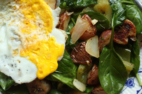 Spinach and Potato Breakfast Hash