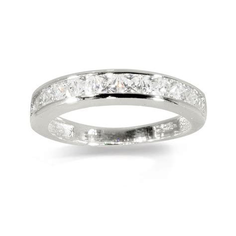 Real Sterling Silver Daphne DiamonFlash ® Cubic Zirconia