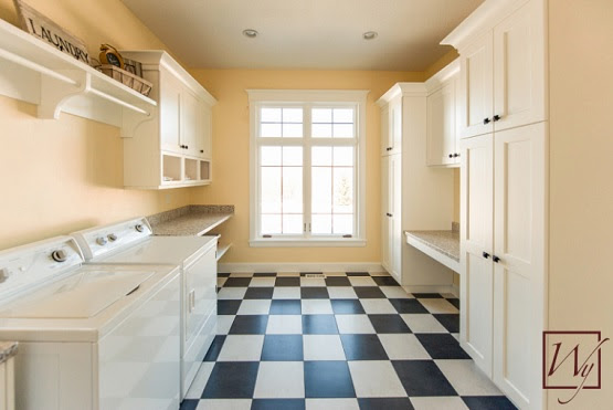 Black And White Vinyl Flooring For Laundry Room Flooring Ideas