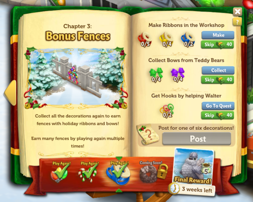Holiday Book - Stage 3 - FarmVille 2