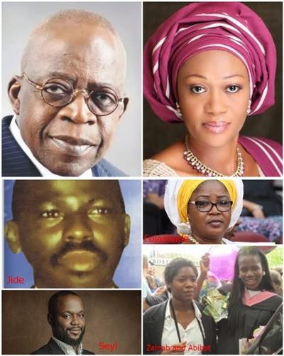 Meet Bola Tinubu's 6 Children