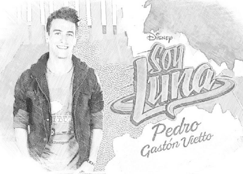 Coloring Page Soy Luna Pedro 7
