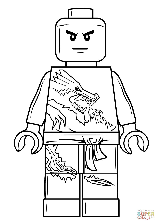 Kolorowanka Klocki Lego Ninjago Zane Kolorowanki Dla Dzieci Do Druku