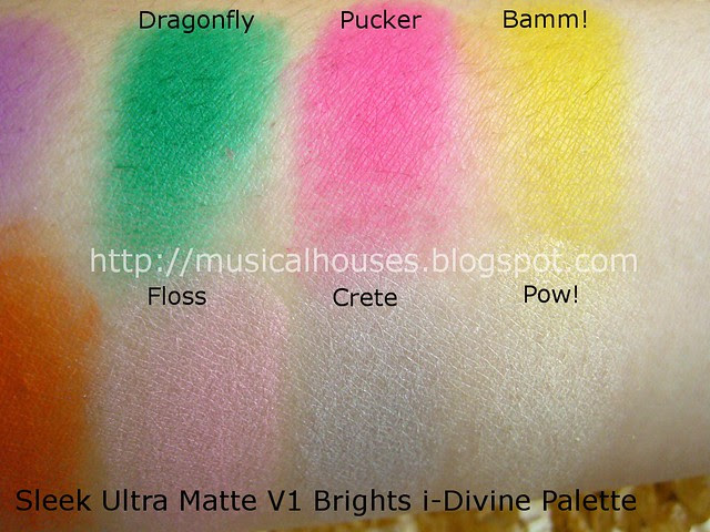 sleek ultra matte brights palette swatches 2