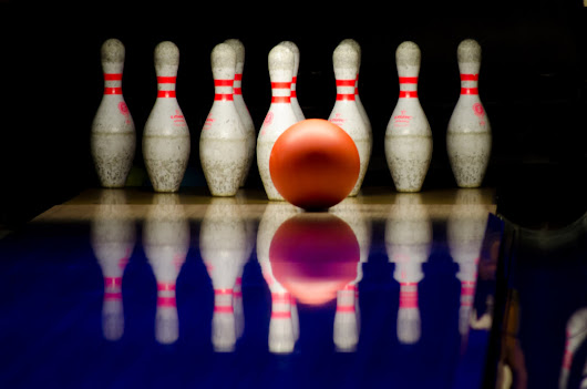 Public Domain Images - Bowling Alley Red Ball White Pins Lane - Public Domain Images | Free Stock Photos
