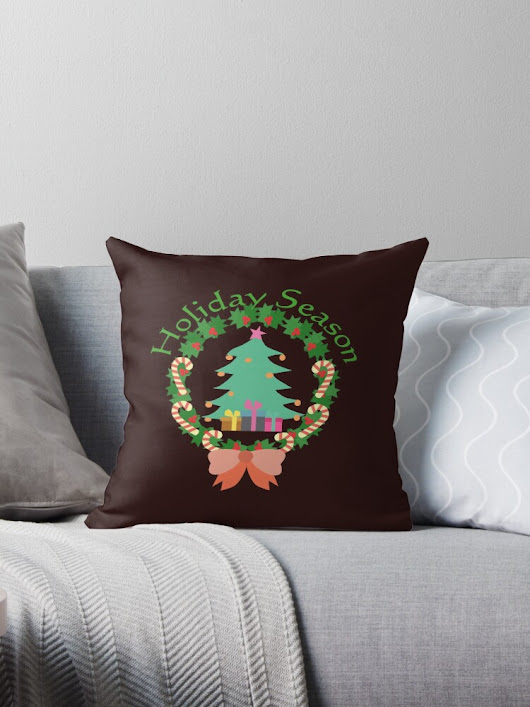 'Holiday Season' Throw Pillow by cozysweet