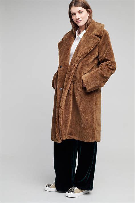 Annaleigh Faux Fur Coat, Brown   Anthropologie