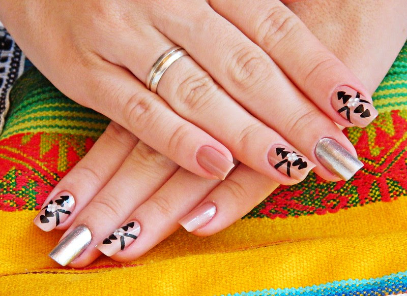 juliana leite nail art unhas decoradas estampa etnica linda 001