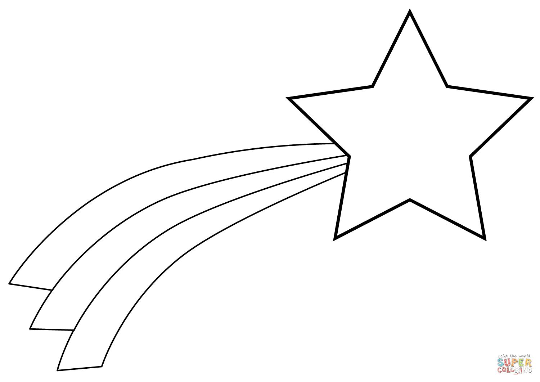 Dibujo De Estrella Fugaz De Navidad Para Colorear Dibujos Para