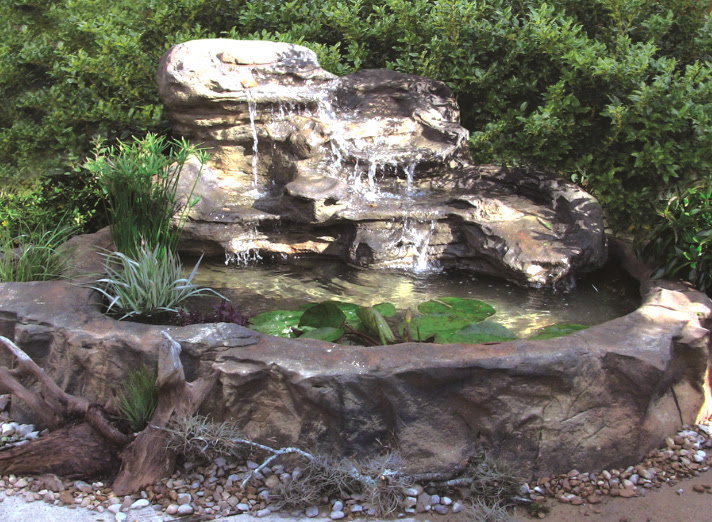 Rock Fountains / Fountain // Pool Rock Waterfalls, Fountains and ...