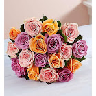 1-800-Flowers Sorbet Roses + Free Vase 18 Stems, Bouquet Only