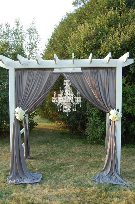Wedding pergola with chandelier   Wedding Ideas