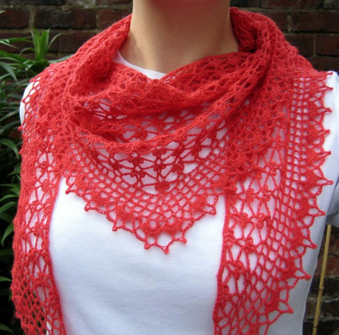 Summer Sprigs Lace Shawl Free Crochet pattern