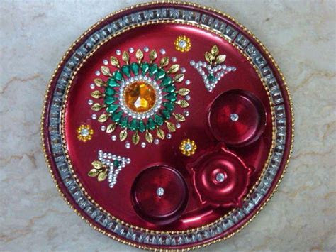 Navratri Aarti Thali Decoration: Ideas   Boldsky.com