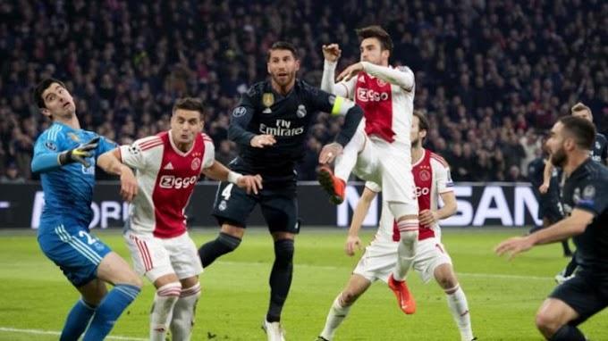Real Madrid leva de 4 a 1 e é eliminado pelo Ajax na Liga dos Campeões