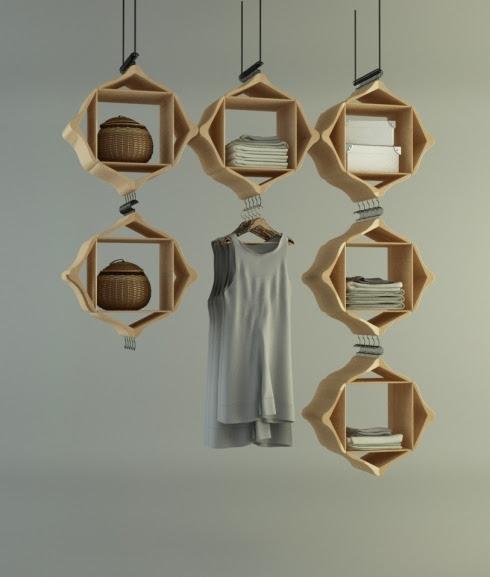 "The ""Hang on!"" display cabinets"